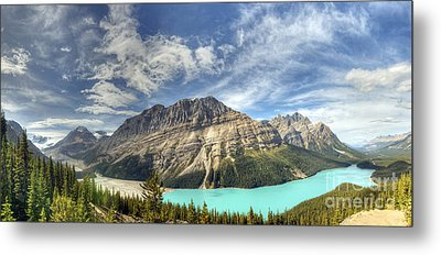 Peyto Lake Metal Print by Wanda Krack