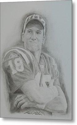 Peyton Manning Metal Print by Brent  Mileham