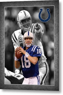 Peyton Manning Colts Metal Print