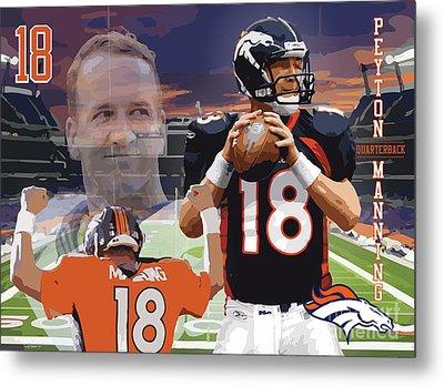 Peyton Manning Metal Print by Israel Torres