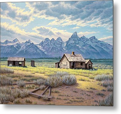 Pfeiffer Homestead-tetons Metal Print