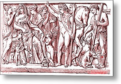 Phaedra And Hippolytus Metal Print by Collection Abecasis