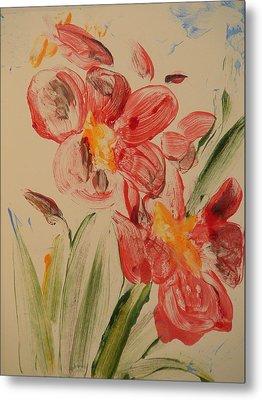 Phalaenopsis In Pink Metal Print by Valerie Lynch
