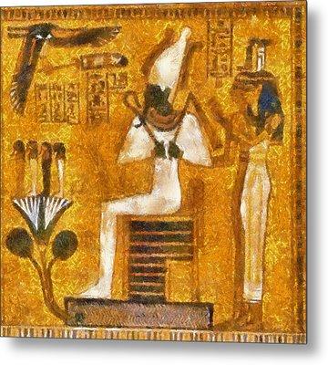 Metal Print featuring the painting Pharaoh  by Georgi Dimitrov