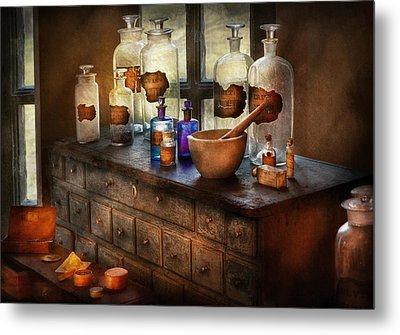 Pharmacist - Medicinal Equipment  Metal Print by Mike Savad
