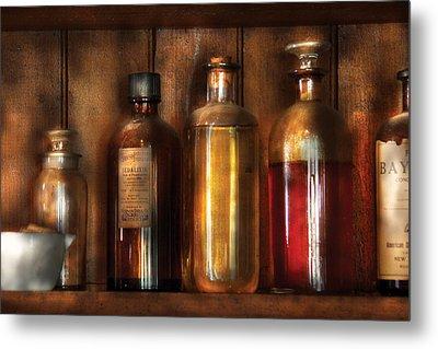 Pharmacist - Various Elixirs  Metal Print by Mike Savad