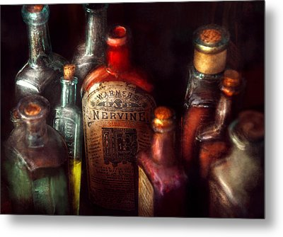 Pharmacy - A Safe Rheumatic Cure  Metal Print by Mike Savad