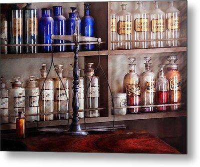 Pharmacy - Apothecarius  Metal Print by Mike Savad
