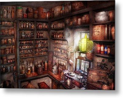 Pharmacy - Equipment - Merlin's Study Metal Print by Mike Savad