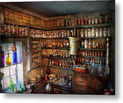 Pharmacy - Medicinal Chemistry Metal Print by Mike Savad