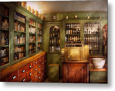 Pharmacy - Room - The Dispensary Metal Print by Mike Savad