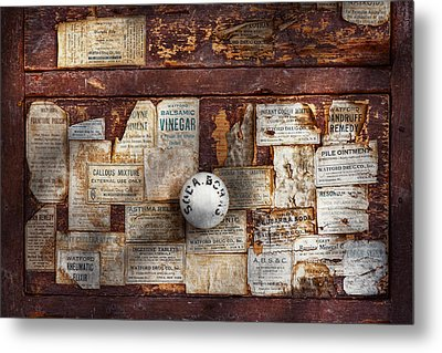 Pharmacy - Signs Of The Time  Metal Print by Mike Savad
