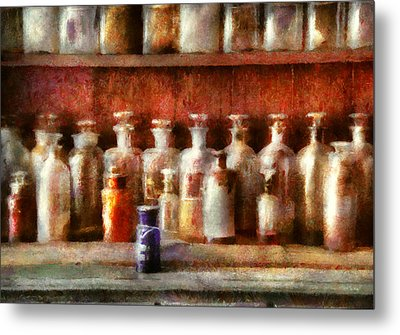 Pharmacy - The Medicine Counter Metal Print by Mike Savad