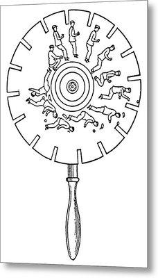 Phenakistoscope Metal Print