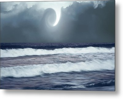 Phenomenon Above The Sea Metal Print by Kellice Swaggerty