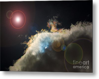 Phenomenon With Lens Flare Metal Print