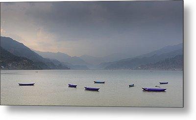 Phewa Lake In Pokhara Metal Print