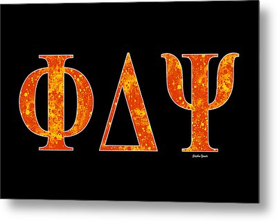 Phi Delta Psi - Black Metal Print by Stephen Younts