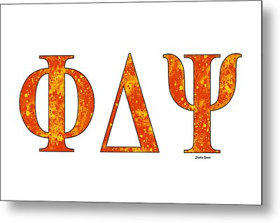 Phi Delta Psi - White Metal Print by Stephen Younts