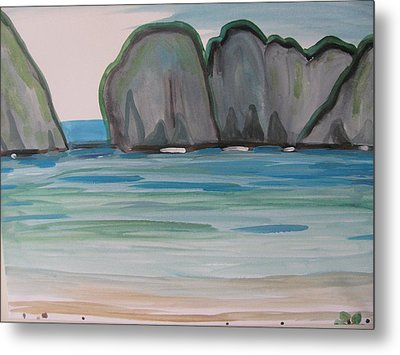 Metal Print featuring the painting Phi Phi Island by Vikram Singh