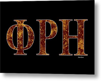 Phi Rho Eta - Black Metal Print by Stephen Younts