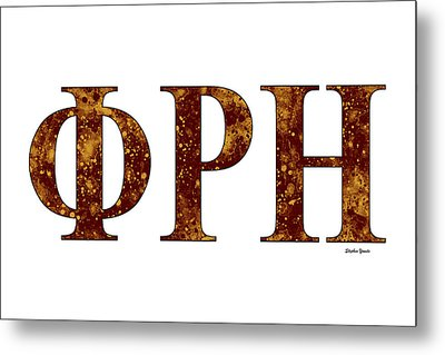 Phi Rho Eta - White Metal Print by Stephen Younts