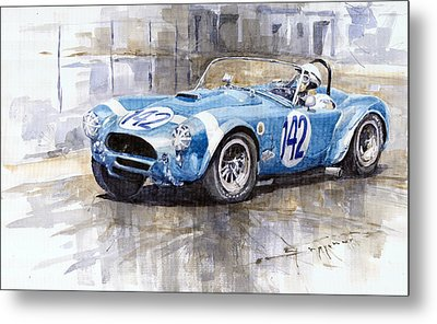 Phil Hill Ac Cobra-ford Targa Florio 1964 Metal Print by Yuriy Shevchuk
