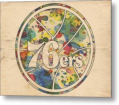 Philadelphia 76ers Retro Poster Metal Print