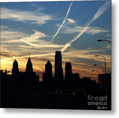 Philadelphia At Dusk Metal Print by Lyric Lucas
