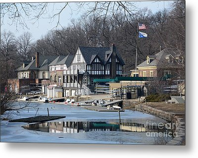 Philadelphia - Boat House Row Metal Print by Cindy Manero