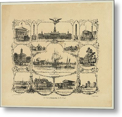 Philadelphia By James Fuller Queen Metal Print by Bill Cannon