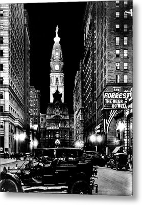 Philadelphia City Hall 1916 Metal Print by Benjamin Yeager