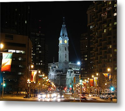 Philadelphia City Hall Metal Print by Christopher Woods