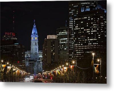 Philadelphia City Hall Metal Print by Eduard Moldoveanu
