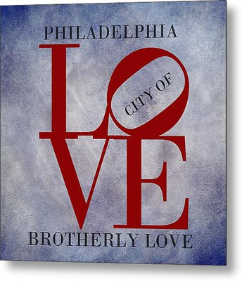 Philadelphia City Of Brotherly Love  Metal Print by Movie Poster Prints