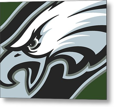 Philadelphia Eagles Football Metal Print by Tony Rubino