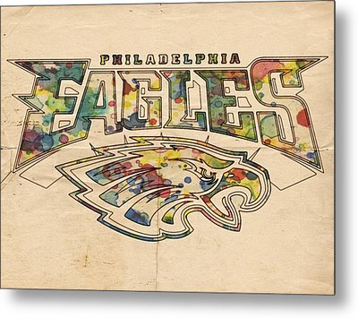 Philadelphia Eagles Poster Art Metal Print by Florian Rodarte