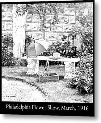 Philadelphia Flower Show Display 1916 Metal Print by A Gurmankin