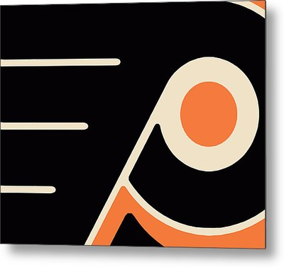 Philadelphia Flyers Size 2 Metal Print by Tony Rubino
