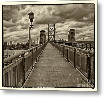 Philadelphia From Ben Franklin Bridge 1 Metal Print by Jack Paolini