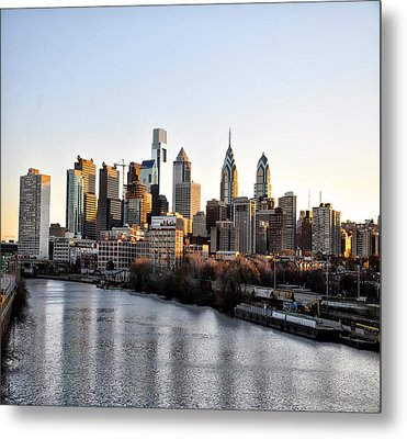Philadelphia In The Morning Light Metal Print by Bill Cannon