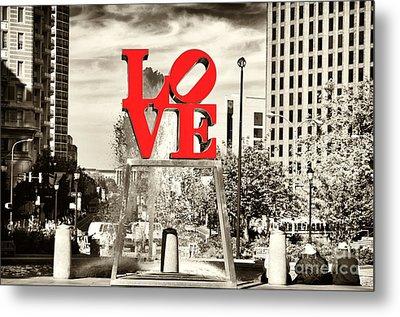Philadelphia Love Mixed Metal Print