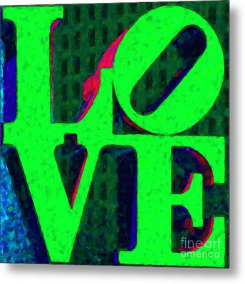 Philadelphia Love - Painterly V3 Metal Print by Wingsdomain Art and Photography