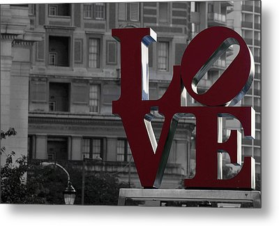 Philadelphia Love Metal Print by Terry DeLuco