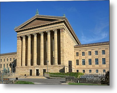 Philadelphia Museum Of Art Rear Facade Metal Print by Olivier Le Queinec