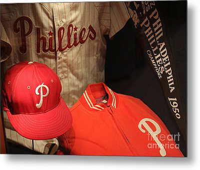 Philadelphia Phillies Metal Print by David Rucker