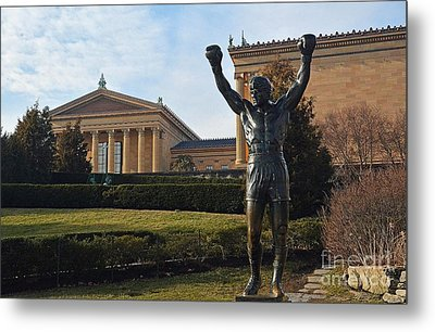 Philadelphia - Rocky  Metal Print by Cindy Manero