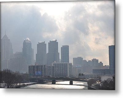 Philadelphia Schuylkill River View Metal Print by Bill Cannon
