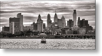 Philadelphia Silver Metal Print by Olivier Le Queinec