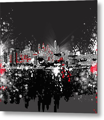 Philadelphia Skyline Abstract 5 Metal Print